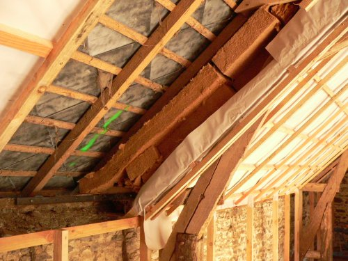 isolation sous toit et dalle de l 39 tage au dessus de la. Black Bedroom Furniture Sets. Home Design Ideas